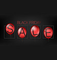 black friday sale concept with red balloons vector image