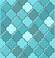 blue turkish mosque seamless tile pattern vector image