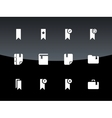 Bookmark tag favorite icons on black background vector image vector image