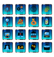business management icon set vector image vector image