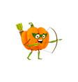 cartoon pumpkin fairytale hero isolated icon vector image