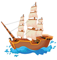 Cartoon ship isolated vector image vector image