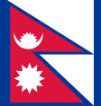 colored flag of nepal vector image vector image