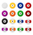 complete billiard balls in flat set vector image vector image