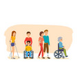 concept of - disabled people and vector image