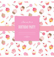 cute template for scrapbook girly design vector image vector image