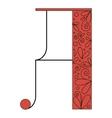 Decorative letter shape A vector image vector image