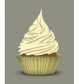 Delicious cupcake which stacked cream vector image vector image