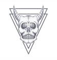 devil skull triangle bage vector image vector image