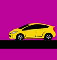 drawing a modern city car vector image vector image