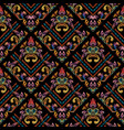 embroidery floral colorful damask seamless pattern vector image