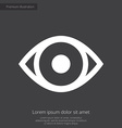eye premium icon white on dark background vector image vector image