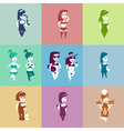 fashion girls collection set vector image vector image