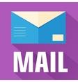 flat envelope design concept vector image vector image