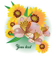 Floral Bouquet with Text Space vector image vector image