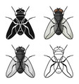 fly icon in cartoon style isolated on white vector image vector image