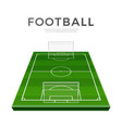football playground 3d green soccer field vector image vector image