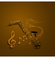 form of saxophone and notes vector image vector image