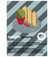 garden color isometric poster vector image vector image