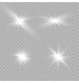 glow isolated white vector image vector image