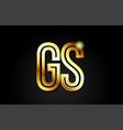 gold alphabet letter gs g s logo combination icon