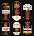 golden sale labels retro vintage design vector image vector image