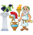 greek theme collection 1 vector image vector image