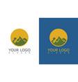 green mountain sun logo vector image vector image