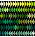 Green tones triangles background vector image