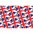 grunge uk flag or banner vector image vector image