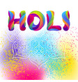 happy holi colorful background vector image vector image