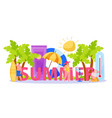 heatstroke in summer composition vector image