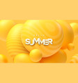hello summer abstract background vector image