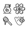 honey outline icons 2 vector image vector image