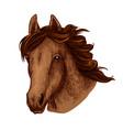 horse animal muzzle sport team mascot icon