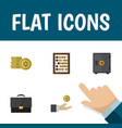 icon flat incoming set of briefcase safe abacus vector image vector image