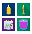 isolated object of candlelight and decoration vector image vector image