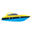 isolated ship toy vector image vector image