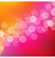 Lights Background With Bokeh vector image