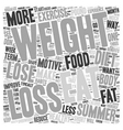 Lose Weight For The Summer text background vector image vector image