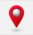 map location pointer 3d pin with glowing glass vector image vector image