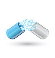 medicine capsule for treatment vector image vector image