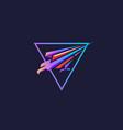modern futuristic falcon logo vector image