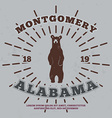 Montgomery Alabama t-shirt graphic vector image