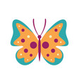 motley butterfly icon in flat style vector image vector image