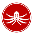 Octopus button vector image