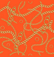 orange seamless pattern chain vector image vector image