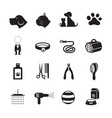 pets grooming shop icons vector image