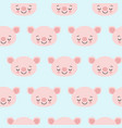 pig animal seamless pattern cute cartoon animals vector image vector image
