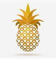 pineapple golden fruit design element tropical vector image vector image